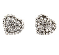 Classic Heart Diamanted Shape Stud Earring(1 Pair)