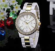 Women's Watch Fashion Diamante Gold Dial