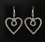 Classic Heart Shape Diamanted Drop Earring(1 Pair)
