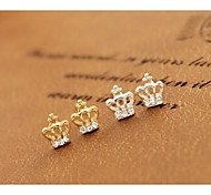 Love Is You Lovely Elegant Small Crown Earrings Set Auger