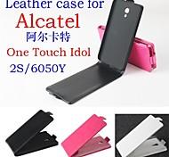 Mode Leder Flip Tasche Hülle für Alcatel One Touch Idol 2s / 6050y oben und unten 3-Farben-Smartphone