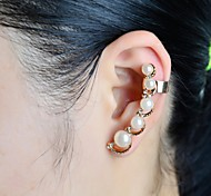 Fashion Pearl With Stone Ear Cuffs