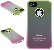 TPU+PC Two in One Yellow/Rose Gradient Back Cover Case for iPhone 4/4S