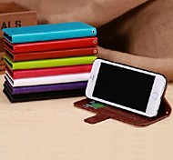 Smooth Skin Pattern PU Leather Wallet Flip Cover with Card Slots for iPhone 6 Case(Assorted Colors)