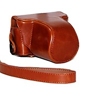 Pajiatu Retro PU Leather Camera Protective Case Bag Cover with Shoulder Strap for Pentax Q10 5-15mm Lens