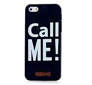 rufen Sie mich Muster Hard Case für iPhone 4 / 4s