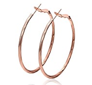 cercle de la mode en or rose rose boucles d'oreilles en plaqué or (rose-or) (1 paire)
