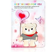 Balloon Bear Pattern Leather Full Body Case with Stand for Apple iPad Air