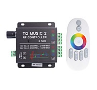6a de 3 canales de música de tq rf rgb llevó el regulador de audio con control remoto multifunción para rgb llevó la lámpara de la tira (cc 12-24)