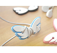 Angel Wings Cartoon Earphone Cable Wire Cord Organizer Cable Winder