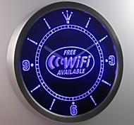 nc0345 connessione wi-fi disponibile neon orologio da parete led