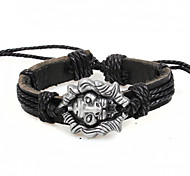 2015 Fashion Coffee Black Leather Bracelet