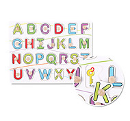 26 Letters Embedded Puzzle Wooden Educational Toy(Assorted Color)