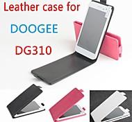 vendita calda cassa di cuoio dell'unità di elaborazione del cuoio di vibrazione 100% per dg310 doogee su e giù per smartphone a 3 colori
