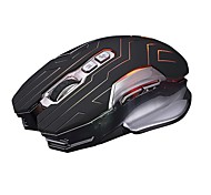 jianshengyizu classico 7-chiave 2.4ghz wireless gaming mouse ottico w / colorato luce led