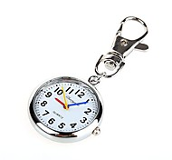 Unisex Alloy Analog Quartz Keychain Pocket Watch