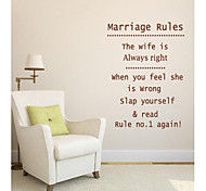 JiuBai™ Marriage Rules Quote Wall Sticker Wall Decal