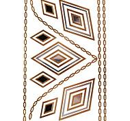 1Pcs Diamond Jewelry Inspired Metallic Gold and Silver Tattoo Stickers Temporary Tattoos