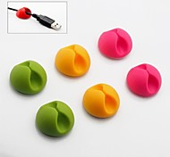 Colored Cable Clips, 6pcs