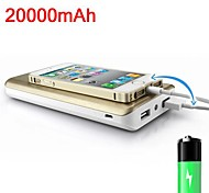 pn-999 20000mAh draagbare externe batterij voor de iPhone 5 / 5s samsung s4 / 5 htc lg en andere mobiele apparaten