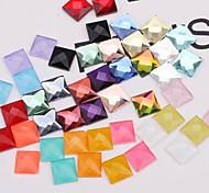Z&X®  12MM 50 PCS DIY Candy Color Square Decorative Flat Rhinestone(Random Color)