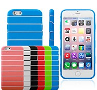 Stripe Pattern TPU Soft Case for iPhone6 (Assorted Colors)