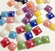 Z&X®  10MM DIY 100 PCS Candy Color Ceramic Square Flatback(Random Color)