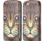 Cool Tribal Style Cat Pattern Magnetic Vertical Flip Leather Case for iPhone 6
