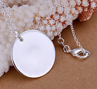Charming Silver Round Heart Shape Women's Pendents