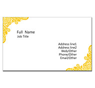 Business Card 200pcs 2 Sides Printed White And Orange Pattern
