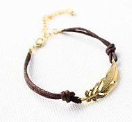 Alloy Golden Leaf Bracelet Jewelry