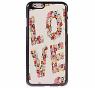 Unique Love Design Aluminum Hard Case for iPhone 6
