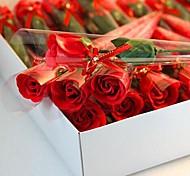 1 peças presentes de Natal rosa forma de sabão flores