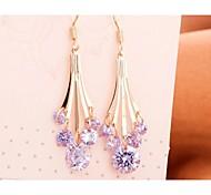 Love Is Your Fashion Zircon Earrings Fan Earrings