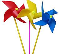 100pcs 20 centimetri colorati quattro angoli per bambini mulino a vento giocattoli