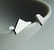 forma forma trapezoidal roubar brinco de prata (1 par)
