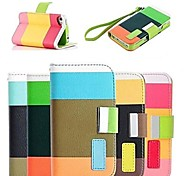 Elegant Bright Color PU Full Body Case Stand Case for iPhone 4/4S (Assorted Colors)