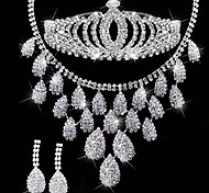 Fashion Sliver Alloy (Includes Headdress&Necklace&Earrings) Hair Bands Jewelry Set of 3 (Sliver)