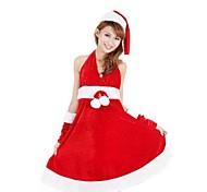 dolce principessa lycra rosso delle donne costume di natale