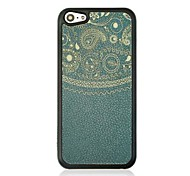 Totem  Leather Vein Pattern Hard Case for iPhone 5C