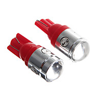 T10 2.5W 250LM 4 SMD LED Wedge Light High Power Red Lamp Bulb for Car (2PCs)