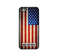 персонализированные случае американского случае флаг металлическая конструкция для iPhone 5/5 секунд