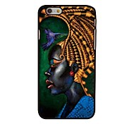 African Woman Style Plastic Hard Back Cover for iPhone 6