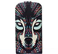 Fuchs-Muster PU-Leder Flip-open Ganzkörper-Case für Samsung Galaxy Trend lite s7390 / s7392