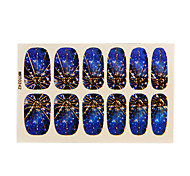 12st Harajuku Stil Sternenhimmel blau Nail Art Sticker
