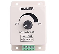 8A 1-Channel Led Knob-Operated Control Dimmer for LED Strip Lamp  (DC 12V-24V)