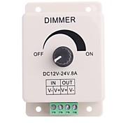 8a 1-Kanal-LED-Drehknopf-Betriebssteuerung Dimmer für LED-Streifen Lampe (DC 12V-24V)