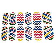 4x12pcs perfekte Sommer-Regenbogen-Farben-Nagel-Kunst-Aufkleber