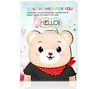 Say Hello Bear Pattern Leather Full Body Case with Stand for Apple iPad Air