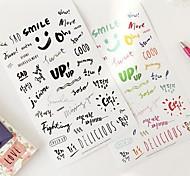 palavra arte transparente grupo da etiqueta (2 folhas)